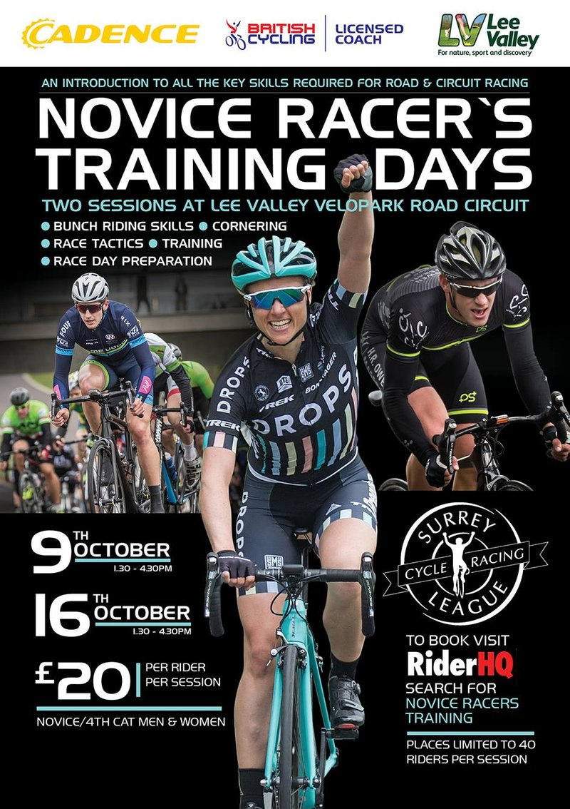 Novice raceers session poster